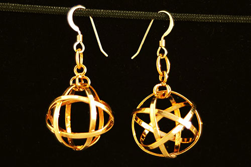 mini_spherical_cube_octahedron_gold_earrings
