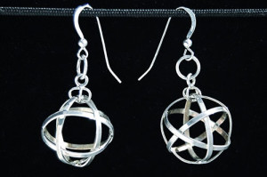 mini_spherical_cube_octahedron_silver_earring