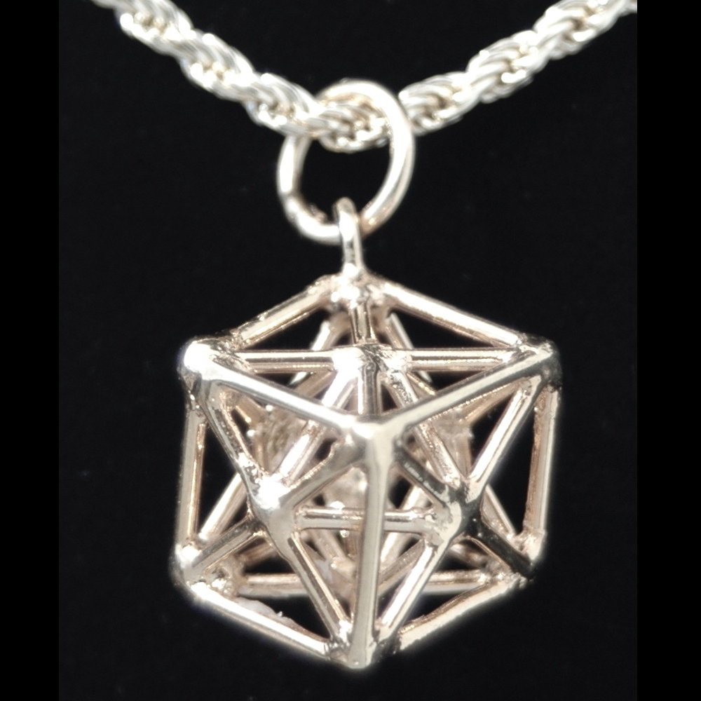 Iconnect2all metatrons cube sterling silver pendant sacred geometry jewelry aloadofball Gallery
