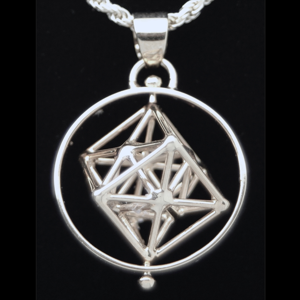 Metatrons cube silver plated pendant w ring top selling products aloadofball Image collections